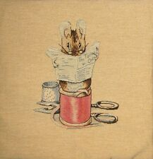 "NEW 14"" BEATRIX POTTER TAILOR MOUSE TAPESTRY CUSHION COVER 1376"