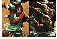 PUBLICITE ADVERTISING  1992   ADIDAS  BASKET équipement sport  (2 pages)