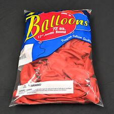 """Red Balloons - 72 Pack Tuf Tex 17"""" Jumbo Round Latex Balloons"""