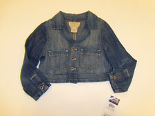 NWT Girls Ralph Lauren Polo Blue Denim Short Jean Jacket Cotton Linen 3 3T NEW