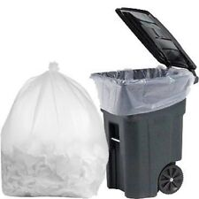 PlasticMill 95 Gallon, Clear, 3 Mil, 61x68, Garbage Bags. 10 Bags
