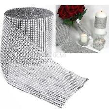 1pc Wedding Diamond Mesh Wrap Sparkle Rhinestone Crystal Ribbon Trim Party Decor