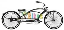 Micargi Mustang GTS Stretch Chopper, Matte Black - Beach Cruiser Bike