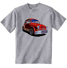 FIAT 600 ABARTH INSPIRED - NEW COTTON GREY TSHIRT - ALL SIZES IN STOCK