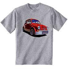 FIAT 600 ABARTH Ispirato-Nuovo T-Shirt grigio Cotone-Tutte le taglie in magazzino