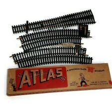 "Atlas HO Train Track Lot Of 5 Vintage 18"" And 15"" Curve Straight Left  Switches"