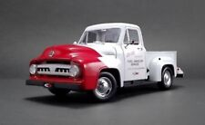 1953 FORD F-100 SO CAL SPEED SHOP PUSH TRUCK WHITE & RED 1/18 BY ACME A1807208