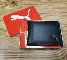 New Puma Active Authentic Sport Bi Fold Street Skater Men's Wallet Black
