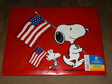 Peanuts Snoopy & Woodstock 4th Of July Paper Placemats-8 Count-New In Package