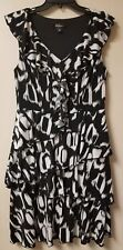 ABG Dress Womens Black White Size 12 - BIN63