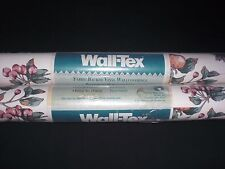 "Lot Two (2) Vtg 27"" Rolls Floral & Fruit Wall-Tex Vinyl Wallpaper 121.5 Sq. Ft."