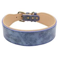 2'' Wide Soft Velvet Dog Collar Adjustable for Large Breeds Rottweiler Doberman
