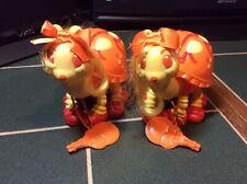 2x Tonka Keypers Vintage 80s Toy. Orange Ladybird 'Tango' w/ keys