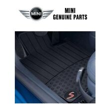 For Mini Cooper R53 R52 Set of 2 Front Black Rubber Floor Mats OES 82550306793