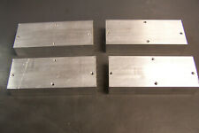"""4 Aluminum Heat sinks 2.2"""" H x 1"""" W x 5.25"""" L 7 Fins Great for Projects Used"""