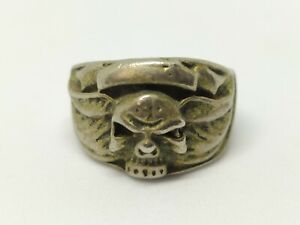 Old Ring Vintage-Antique Roman Style Silver Color Unique Extremely Rare Ring