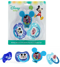 Disney Mickey Mouse 3-Piece Orthodontic Pacifier & Holder Set