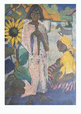 Otto Müller Kunstdruck Poster Bild Lichtdruck Zigeuner mit Sonnenblume 90x70 cm