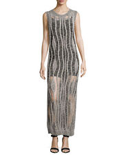 Haute Hippie Sleeveless Muscle Sweater Dress Gown with Camisole $895 Size M