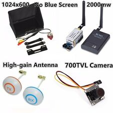 FPV Boscam Combo 5.8g 2000mw Transmitter TS582000 RC805 1024 Monitor with Camera