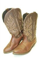 Laredo 5752 Womens 9.5 M Pull On Western Cowgirl Brown Leather Boots