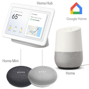 GOOGLE HOME SMART SPEAKER RANGE MINI, HUB, NEST SMART DISPLAY - CHALK + CHARCOAL
