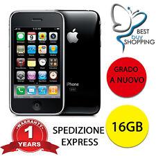 APPLE IPHONE 3 GS 16GB NERO CON ACCESSORI 3GS 16 GB RICONDIZIONATO A NUOVO