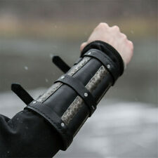 Medieval Knights Bracer Wide Arm Armor Cuff Gauntlet Armband