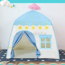 Indoor Outdoor Princess Castle Play House Kids Toy Play Tent Girls Gift Blue