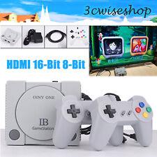 Mini Retro Classic Spielkonsole HDMI 16Bit 8Bit Eingebaute Spiele + 2 Controller