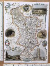 Map Of England Derbyshire.England Derbyshire Antique Europe Maps Atlases For Sale Ebay