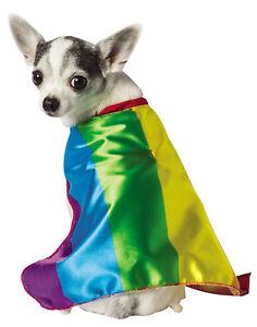 Rainbow Colorful Flag Pet Dog Cat Pride Carnival Costume Cape