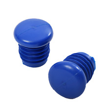 Pair Blue Bluemel Screw In Handlebar Bar End Plugs 60's,70's 80's Racer New Old