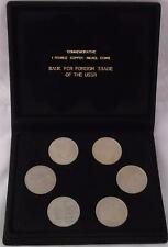 More details for commemorative set of russian 1 rouble copper/nickel coins from 1980