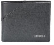 Guess Men's Premium Leather Credit Card ID Billfold Wallet Black 31GU22X003