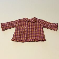 2003 American Girl Pleasant Company Bitty Baby Harvest Plaid Western Shirt
