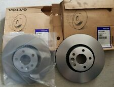 SET OF NEW GENUINE VOLVO S60 V60 2011 ON FRONT VENTILATED BRAKE DISCS - 30769061