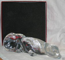 "Waterford RARE HARD TO FIND CRYSTAL 10.75"" HUGE Cougar Panther Cat Tiger"