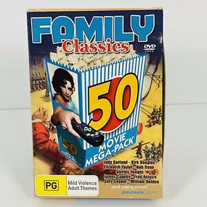 Family Classics 50 Movie Mega Pack DVD Garland Douglas Taylor Hope Temple Cagney