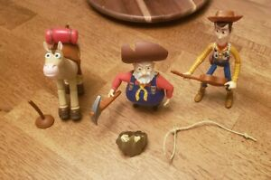 Disney Toy Story 2 Woody's Roundup Prospector Pete Collectible with Woody etc