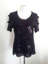 Individual Style! Boo Radley size XL (suit M) black polyamide mesh top