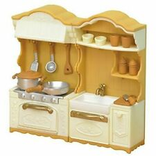 Epoch Sylvanian Families Upgraded Kitchen Stoves and Sink Set 194931