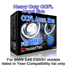 7000K White Heavy Duty BMW CCFL Angel Eyes Halo Rings 131 + 146 mm E46 E90 E91