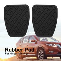 A Pair Of Car Brake & Clutch Pedal Pad Rubber Cover For Nissan Qashqai Anti Slip