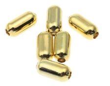 250 Metallperlen Zwischenteile Gold Röhre 4mm Spacer Schmuck Basteln BEST M297
