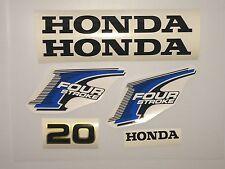 Honda 20 hp  Outboard decal set 4-Stroke Decal Kit Fourstroke Marine Vinyl