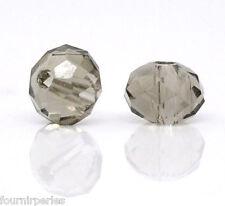 200 Perles Rondelles Cristal Verre à Facettes 4mm Dia.