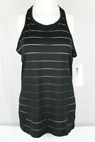 New Athleta Women's Stripe Mesh High Neck Chi Tank Black Size Small 868490