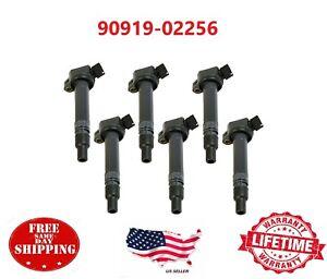 OEM 6 pc 90919-02256 Denso Ignition Coil For Toyota 4Runner Tundra RAV4 Lexus ES