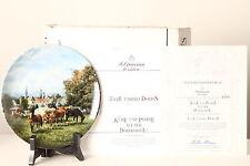 Colección & Placa decorativa selfmann 20cmA 6846 Vacas U PFERDE en el dorfkoppel